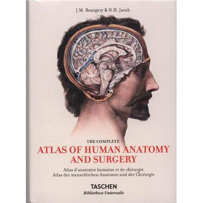 "ATLAS OF HUMAN ANATOMY AND SURGERY/Atlas d'anatomie humaine et de chirurgie, "" Bibliotheca Universalis "" - J. M. Bourgery et N. H. Jacob"